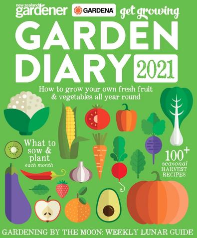NZ Gardener - 2021 Garden Diary cover