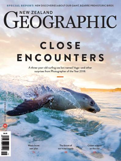 New Zealand Geographic magazine cover