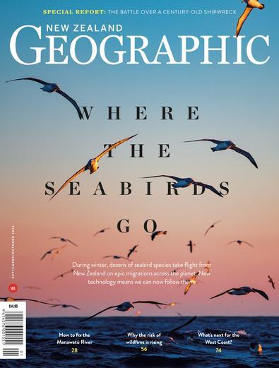 New Zealand Geographic magazine cover