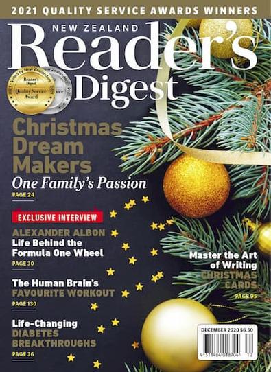 Reader's Digest (NZ) magazine cover