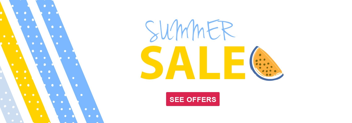 Summer Sale, now on. Hurry, offers end the 6th of February 2019.