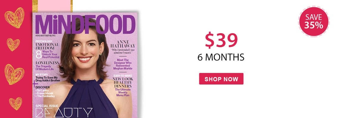 Save 35% on MiNDFOOD magazine this Valentines Day, the perfect gift