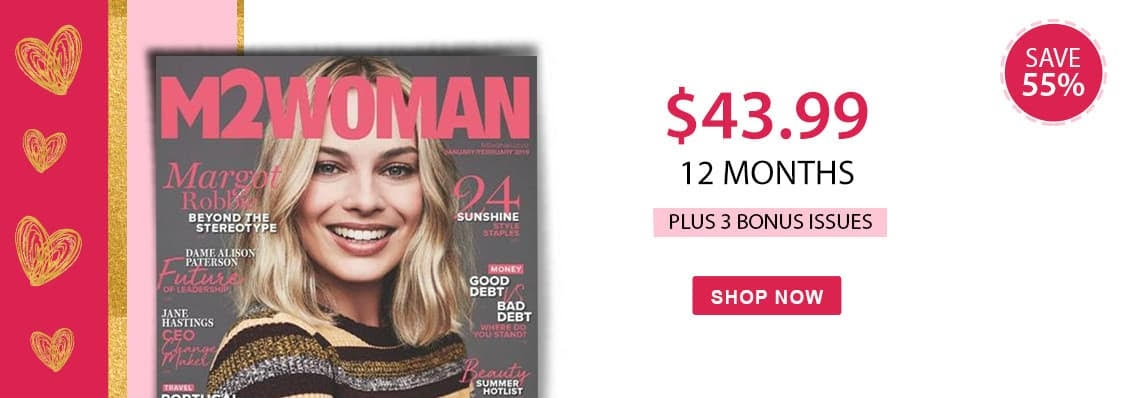 Receive 3 Bonus Issues with a 12 month subscription to M2WOMAN