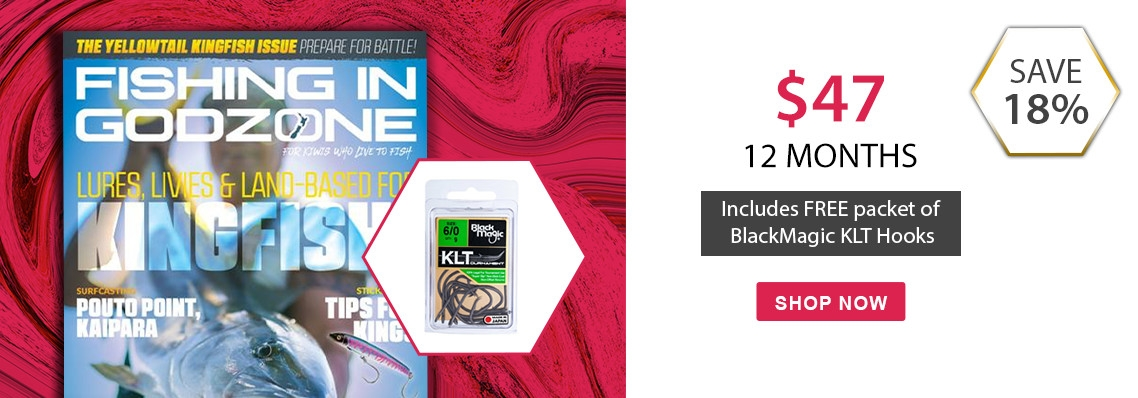 Free packet of Black Magic KLT 6/0 Hooks with Fishing in Godzone magazine