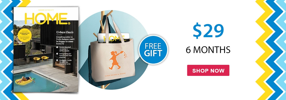 Free Karen Walker x Resene tote bag with all 6 & 12 month subscriptions to HOME NZ
