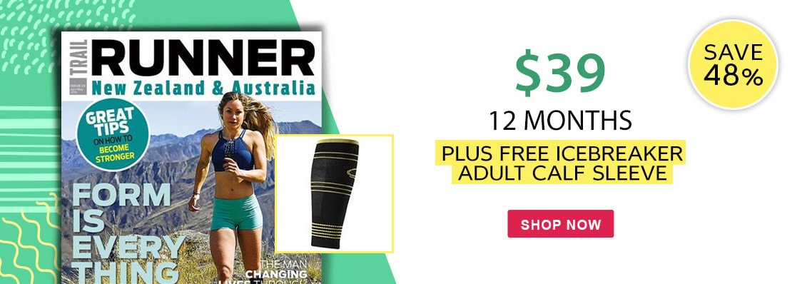 Subscribe to Trail Runner NZ & AUS for 12 months and save 48% plus receive a free gift